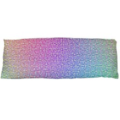 Rainbow Colorful Grid Body Pillow Case Dakimakura (two Sides) by designworld65