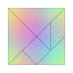 Rainbow Colorful Grid Acrylic Tangram Puzzle (6  X 6 ) by designworld65