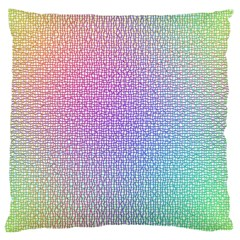 Rainbow Colorful Grid Large Cushion Case (two Sides) by designworld65
