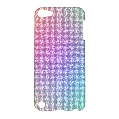 Rainbow Colorful Grid Apple Ipod Touch 5 Hardshell Case by designworld65