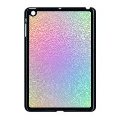 Rainbow Colorful Grid Apple Ipad Mini Case (black) by designworld65