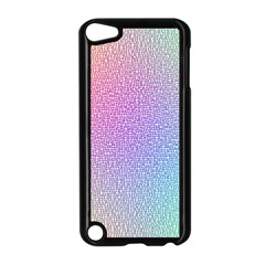 Rainbow Colorful Grid Apple Ipod Touch 5 Case (black) by designworld65