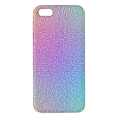 Rainbow Colorful Grid Apple Iphone 5 Premium Hardshell Case by designworld65