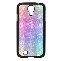 Rainbow Colorful Grid Samsung Galaxy S4 I9500/ I9505 Case (black) by designworld65