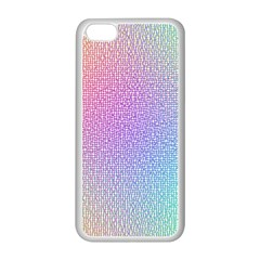 Rainbow Colorful Grid Apple Iphone 5c Seamless Case (white) by designworld65