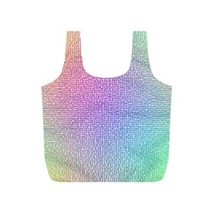 Rainbow Colorful Grid Full Print Recycle Bags (s)  by designworld65