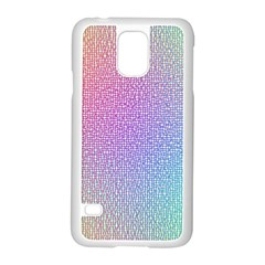 Rainbow Colorful Grid Samsung Galaxy S5 Case (white) by designworld65