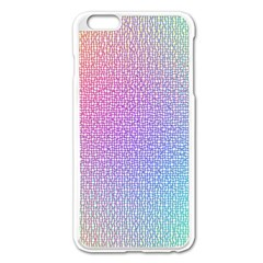 Rainbow Colorful Grid Apple Iphone 6 Plus/6s Plus Enamel White Case by designworld65