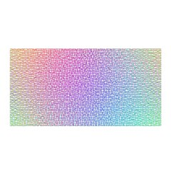 Rainbow Colorful Grid Satin Wrap by designworld65