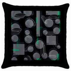 Come Down   Green Throw Pillow Case (black) by Valentinaart