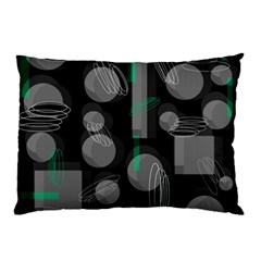 Come Down   Green Pillow Case by Valentinaart