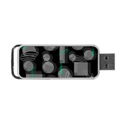 Come Down   Green Portable Usb Flash (one Side) by Valentinaart
