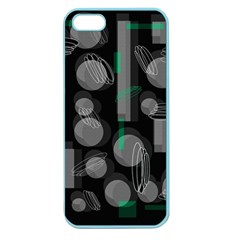 Come Down   Green Apple Seamless Iphone 5 Case (color) by Valentinaart