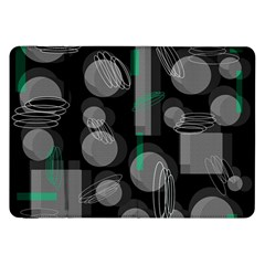 Come Down   Green Samsung Galaxy Tab 8 9  P7300 Flip Case by Valentinaart