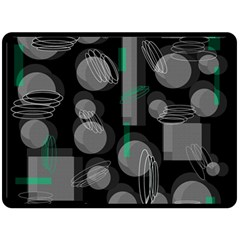 Come Down   Green Double Sided Fleece Blanket (large)