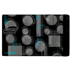 Come Down   Blue Apple Ipad 3/4 Flip Case by Valentinaart
