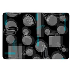 Come Down   Blue Samsung Galaxy Tab 8 9  P7300 Flip Case by Valentinaart