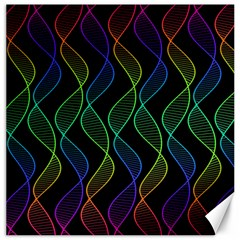 Rainbow Helix Black Canvas 20  X 20   by designworld65