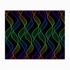 Rainbow Helix Black Small Glasses Cloth (2 Side) by designworld65
