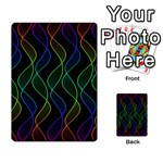 Rainbow Helix Black Multi-purpose Cards (Rectangle)  Back 18