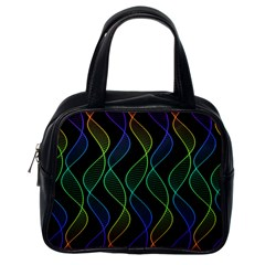 Rainbow Helix Black Classic Handbags (one Side) by designworld65