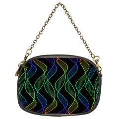 Rainbow Helix Black Chain Purses (two Sides)  by designworld65