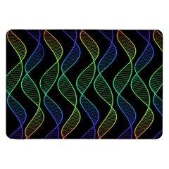 Rainbow Helix Black Samsung Galaxy Tab 8 9  P7300 Flip Case by designworld65