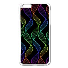 Rainbow Helix Black Apple Iphone 6 Plus/6s Plus Enamel White Case by designworld65