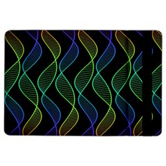 Rainbow Helix Black Ipad Air 2 Flip by designworld65