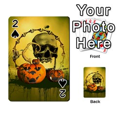 Halloween, Funny Pumpkins And Skull With Spider Playing Cards 54 Designs  by FantasyWorld7