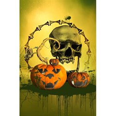 Halloween, Funny Pumpkins And Skull With Spider 5 5  X 8 5  Notebooks by FantasyWorld7