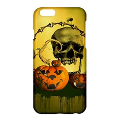 Halloween, Funny Pumpkins And Skull With Spider Apple Iphone 6 Plus/6s Plus Hardshell Case by FantasyWorld7