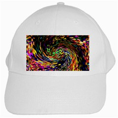 Abstract Art, Colorful, Texture White Cap by AnjaniArt
