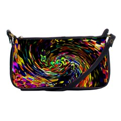 Abstract Art, Colorful, Texture Shoulder Clutch Bags by AnjaniArt