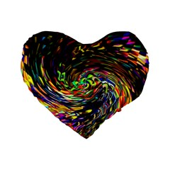 Abstract Art, Colorful, Texture Standard 16  Premium Flano Heart Shape Cushions by AnjaniArt