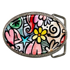 Abstract Doodle Belt Buckles by AnjaniArt