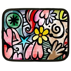 Abstract Doodle Netbook Case (large)