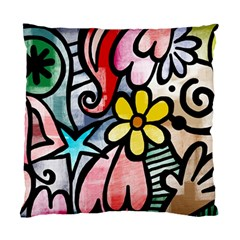 Abstract Doodle Standard Cushion Case (two Sides) by AnjaniArt