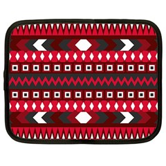 Asterey Red Pattern Netbook Case (large) by AnjaniArt