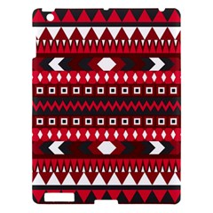 Asterey Red Pattern Apple Ipad 3/4 Hardshell Case by AnjaniArt