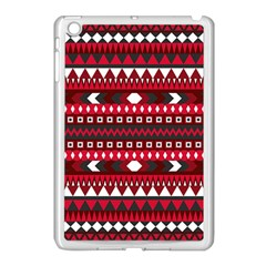 Asterey Red Pattern Apple Ipad Mini Case (white)