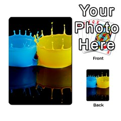 Bicolor Paintink Drop Splash Reflection Blue Yellow Black Multi Purpose Cards (rectangle)  by AnjaniArt