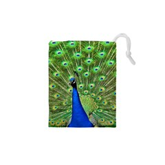 Bird Peacock Drawstring Pouches (xs)
