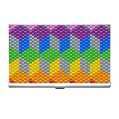Block Pattern Kandi Pattern Business Card Holders by AnjaniArt