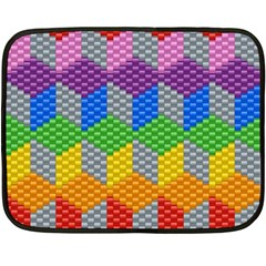 Block Pattern Kandi Pattern Double Sided Fleece Blanket (mini)  by AnjaniArt