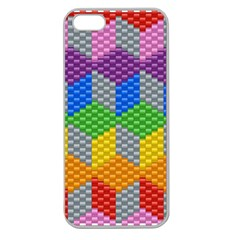 Block Pattern Kandi Pattern Apple Seamless Iphone 5 Case (clear) by AnjaniArt