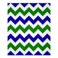 Blue And Green Chevron Pattern Shower Curtain 60  X 72  (medium)  by AnjaniArt