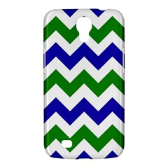 Blue And Green Chevron Pattern Samsung Galaxy Mega 6 3  I9200 Hardshell Case by AnjaniArt