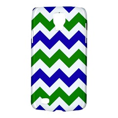 Blue And Green Chevron Pattern Galaxy S4 Active by AnjaniArt