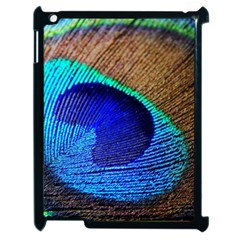Blue Peacock Apple Ipad 2 Case (black)